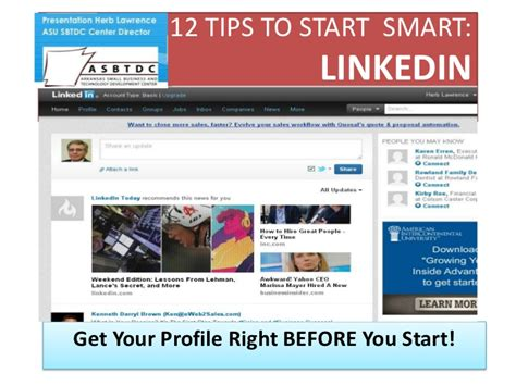 12 Tips On How To Create A Profile by Tips For A Strong Linkedin Profile