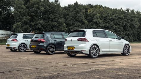 Volkswagen Gti Vs Golf by Drag Race Golf R Vs Golf Gti Performance Pack Vs Golf Gtd