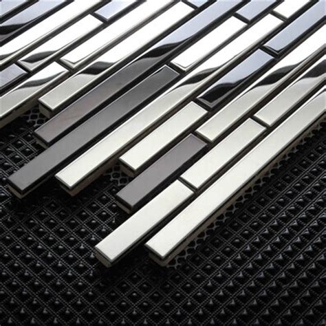 glass and stainless steel backsplash metal mosaic tiles backsplash smmt059 stainless steel