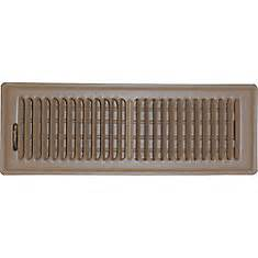 speedi grille 4 in x 14 in brown floor register vent