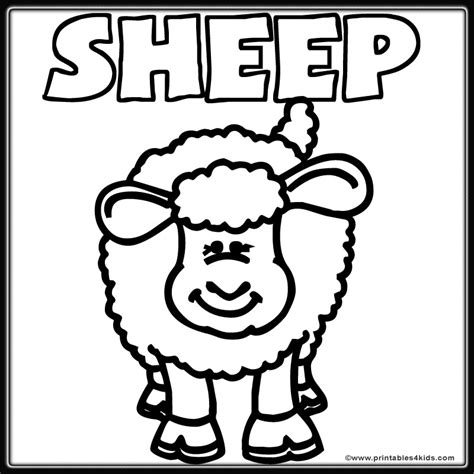 Farm Sheep Lamb Coloring Page Printables For Kids Free Sheep Coloring Pages Preschool