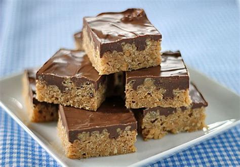 rice krispie bars with chocolate on top my mom classic and bar on pinterest