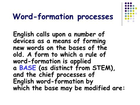 patterns of english word formation processes of word formation ppt video online download