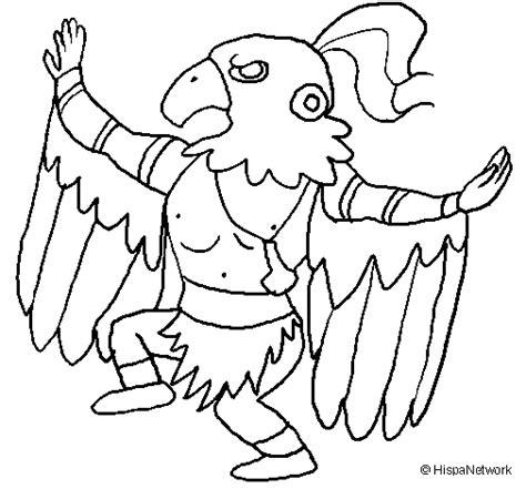 imagenes de aztecas blanco y negro dibujo de brujo maya para colorear dibujos net