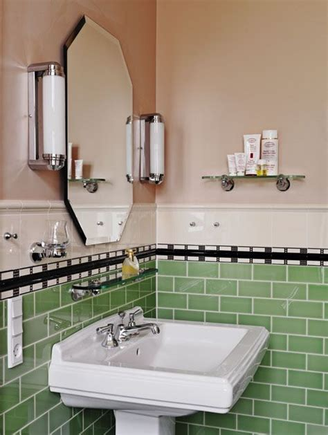 retro bathroom ideas green pink 30s style bathroom in the style of the era