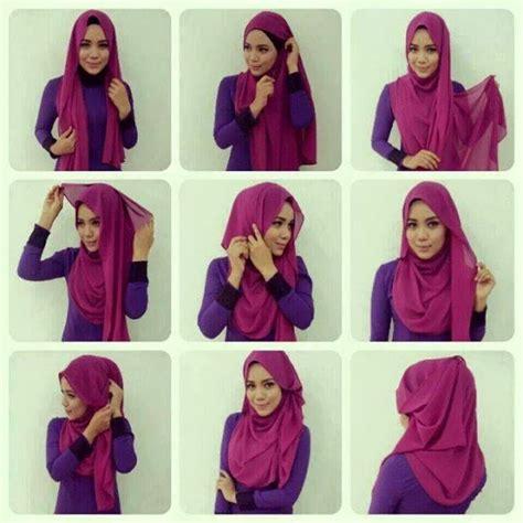 tutorial hijab pashmina terbaru simple modis
