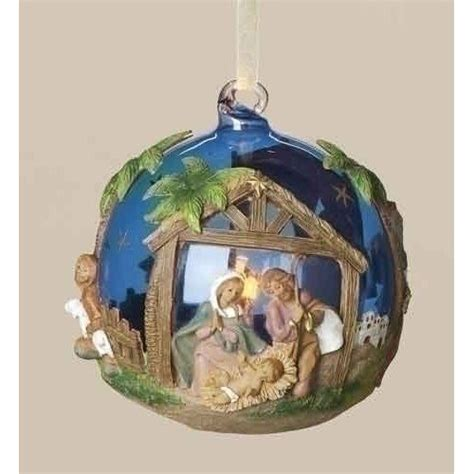 pack of 4 fontanini led lighted glass ball christmas