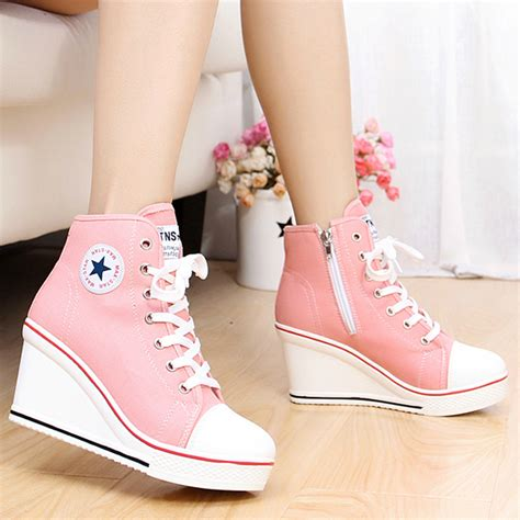 sport shoes with high heels converse wedges on the hunt