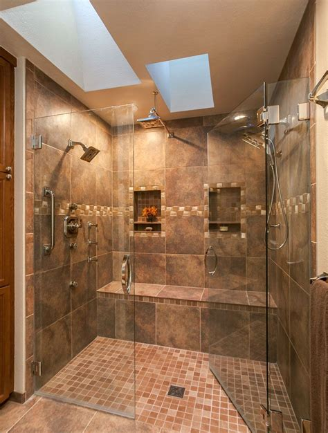 Amazing Master Bath Renovation In Denver With Huge Double Bathroom With Shower Only