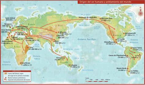 Origen Del Ser Humano Y Poblamiento Del Mundo | sexto grado grupo quot b quot mapa del origen del ser humano