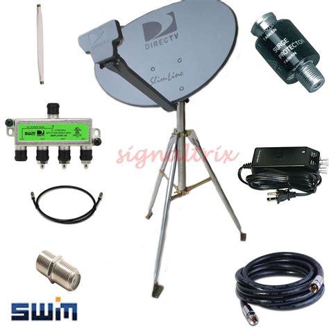 directv slimline swm hdtv portable satellite dish kit rv tripod cing ebay