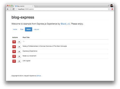 express js app layout blog express js web application exle