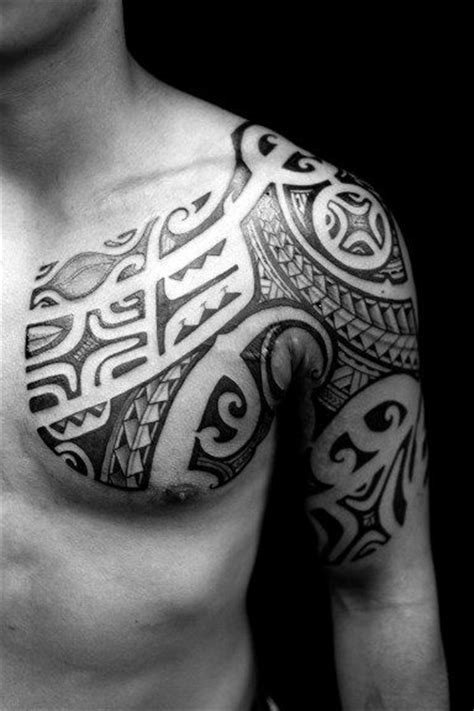 tribal chest tattoos for men designs 50 tribal chest tattoos for masculine design ideas