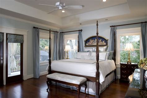 traditional master bedrooms traditional master bedroom with glass panel door by