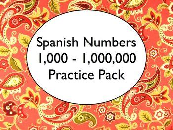 1000 images about teaching spanish spanish numbers 100 1 000 000 worksheets practice pack tpt