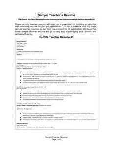Pre Primary School Resume Sle by Sle Resume For Pre Primary School