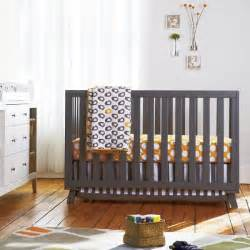 Modern Grey Crib Contemporary Low Rise Crib With A Minimalist Design