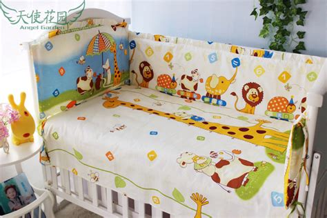 100 Cotton Crib Bedding Sets Promotion 6pcs Baby Bed Set 100 Cotton Crib Bedding Sets Baby Bed Bumpers Sheet Pillow Cover
