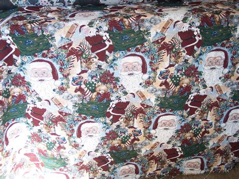 Santa Upholstery by Santa Claus Tapestry Fabric Upholstery Fabric Ebay
