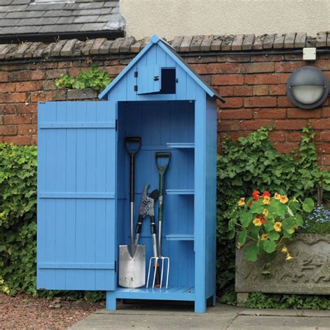 kingfisher blue wooden garden tool shed wft  dft  sale