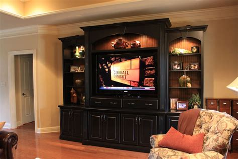 Custom Made Entertainment Center Handmade Entertainment Center By Walters Cabinets Inc