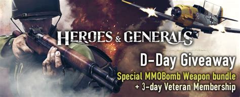 Mmobomb Giveaway - heroes generals mmobomb d day weapon giveaway mmobomb com