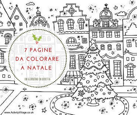 disegni di giardini da colorare 7 pagine da colorare con matite e pennarelli a natale un