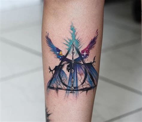 deathly hallows tattoo harry potter tattoo death came as