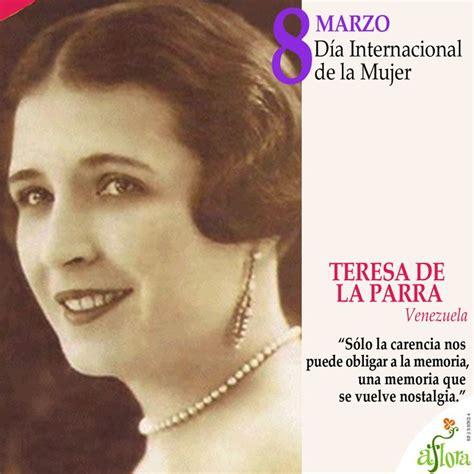 teresa de la parra ana teresa parra sanoja venezuela tuya d 237 a internacional de la mujer teresa de la parra ilustre