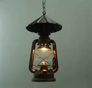 lantern style pendant lights american style l fashion brief rustic iron antique