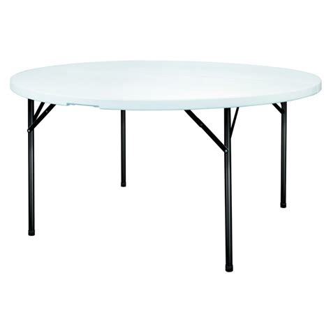 table en polypro ronde table pliante ronde en plastique