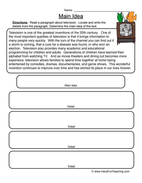 printable worksheets main idea and supporting details main idea graphic organizer have fun teaching