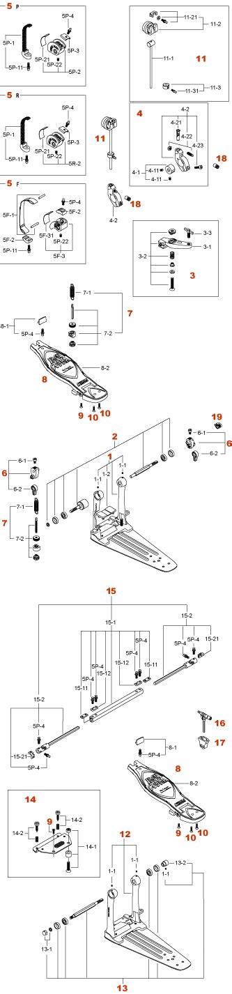 Tama Rolling Glide Chain Assembly Hp95rn iron cobra pedal hp900ptw hp900rtw hp900ftw production 2004 2 2006 12 tama parts catalog
