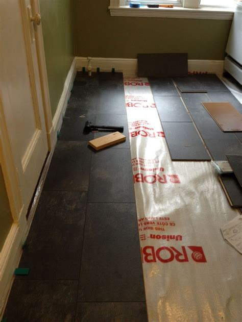 pergo slate floor before and after how to install laminate house stuff pinterest slate