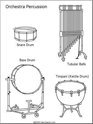 coloring pages instruments of the orchestra coloring page percussion abcteach