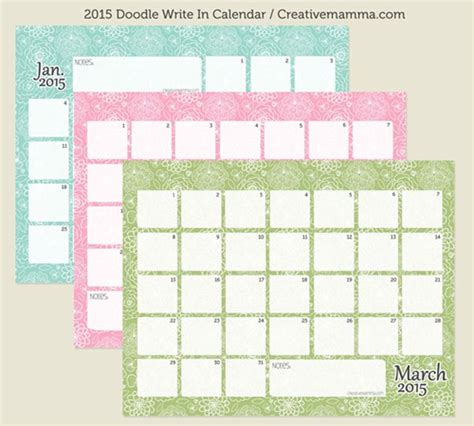 doodle dan calendar 2015 free printable calendars you need on your wall in 2015