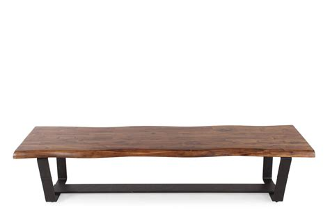 bench pedestal contemporary 76 quot double pedestal bench in dark brown