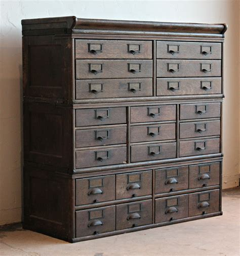 Cabinet Photo by Antique Wooden 23 Drawer Storage Cabinet 2 Home Lilys