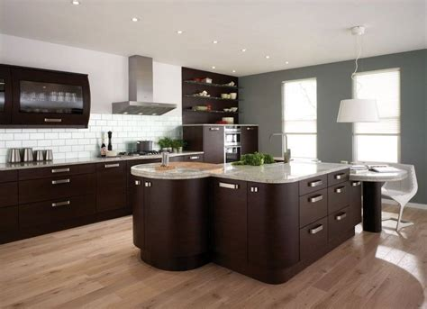 wood kitchen ideas brown cabinet and