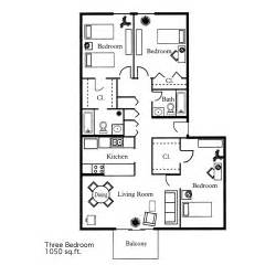 Three Bedroom Floor Plan by Gallery For Gt 3 Bedroom House Map