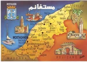 algerie mostaganem cp carte g 233 ographique tourisme