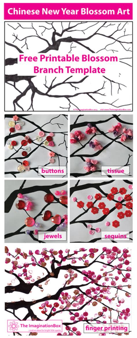 new year cherry blossom template new year printables craft ideas for
