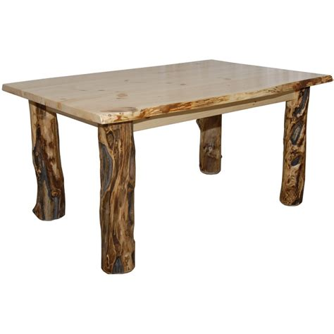 Log Kitchen Table by Log Kitchen Tables Country Trestle Table Western Rustic Wood Log Cabin Kitchen Furniture Decor