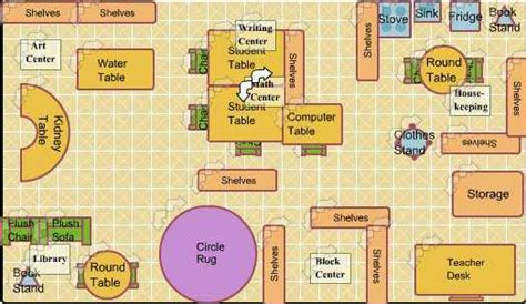 floor plan of a preschool classroom and procedures staysha s classroom