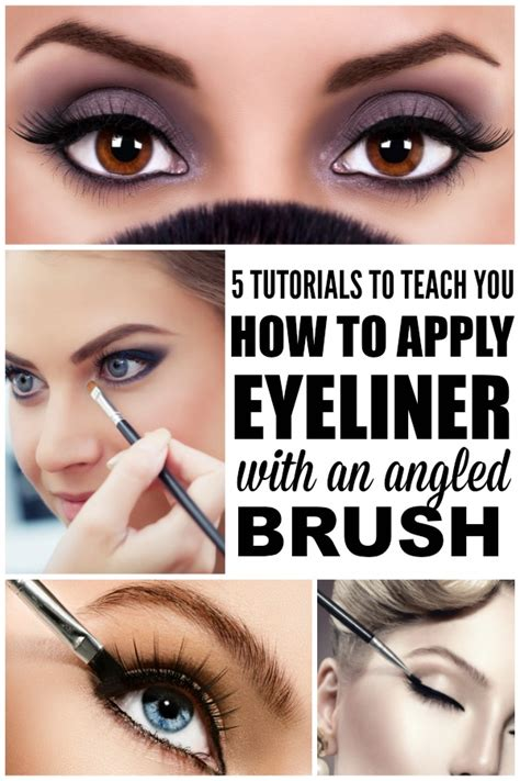 eyeliner tutorial with angled brush how to apply eyeliner with an angled brush