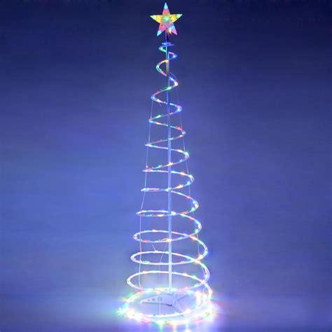 spiral tree outdoor decorations 6 color changing led spiral tree lights outdoor indoor