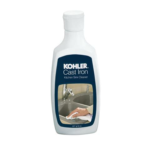 home depot cast iron sink kohler 8 oz cast iron kitchen sink cleaner 1012525 the