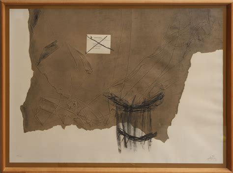 European Home Interiors antoni tapies lithograph signed and numbered drawings