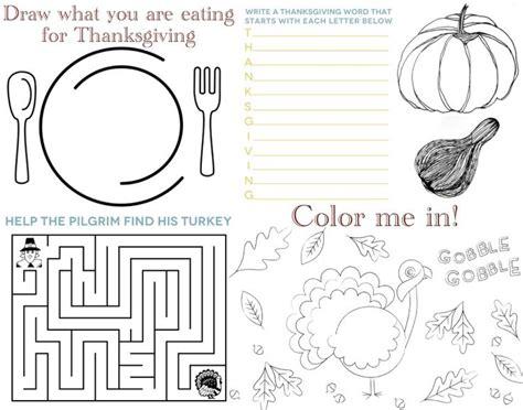 Printable Turkey Placemat | thanksgiving printables placemat thanksgiving and holidays