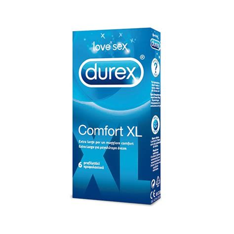 comfortable condoms durex comfort xl 6 pcs kirg ee